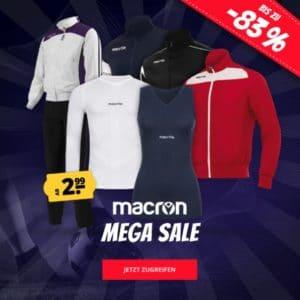 Macron Sale 👕🏃♀ z.B. Shirt für 5€, Poloshirt für 7€, Jogger für 8€ & mehr