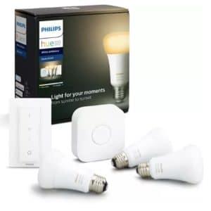 PHILIPS Hue White Amb. E27 3 er Bluetooth Starter Kit kaltweiss bis warmweiss Starter Kit kaufen  SATURN 2021 04 14