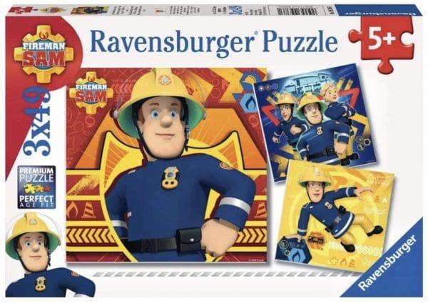 Ravensburger Kinderpuzzle 09386   Bei Gefahr Sam rufen   3 x 49 Teile Amazon.de Spielzeug 2021 04 13
