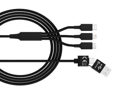 SMRTER Hydra Ultra 5 in 1 Ladekabel USB-C Lightining Micro USB Kombi Ladekabel