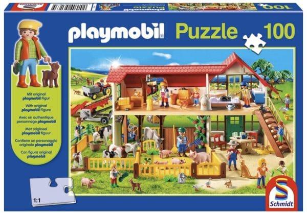Schmidt Spiele 56163 Bauernhof 100 Teile Kinderpuzzle mit Playmobil Figur bunt Amazon.de Spielzeug 2021 04 13
