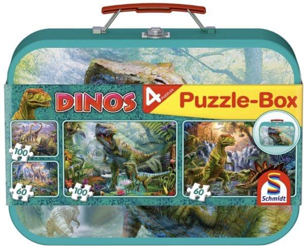 Schmidt Spiele 56495 Dinosaurier 4 Kinderpuzzle im Metallkoffer 2x60 und 2x100 Teile Amazon.de Spielzeug 2021 04 13