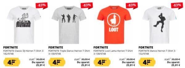 Sportspar Fortnite Herren Shirts
