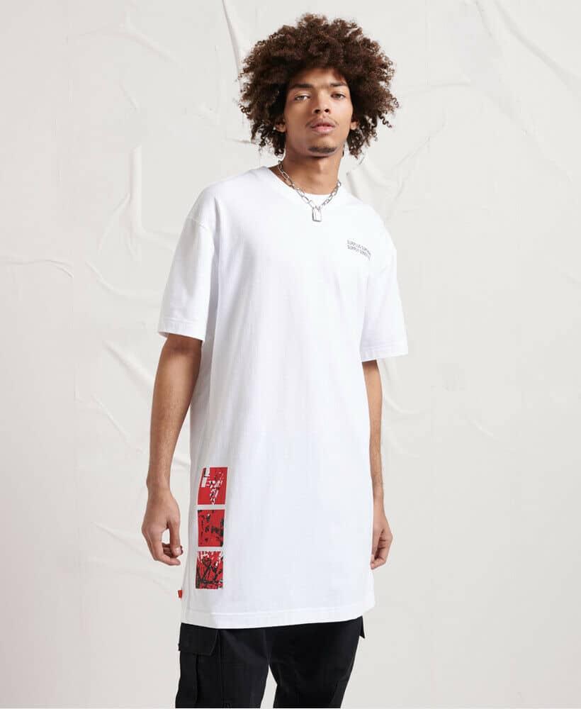 Superdry Herren Shirt Ultralang