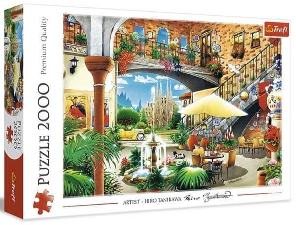 Trefl 27105  Puzzle Ansicht von Barcelona 2000 Teile Spanien Premium Quali fuer Kinder ab 12 Jahren Amazon.de Spielzeug 2021 04 13