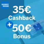 Bis Sonntag! 💳 Geniale 85€ Bonus für kostenlose American Express Blue Card