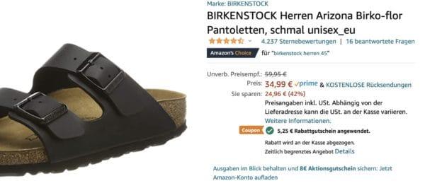 birkenstock gutschein