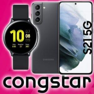 Eff. GRATIS 🔥 Galaxy S21 + Galaxy Watch Active2 für 349€ + Telekom Congstar Allnet (8GB LTE mit 50 Mbit/s)