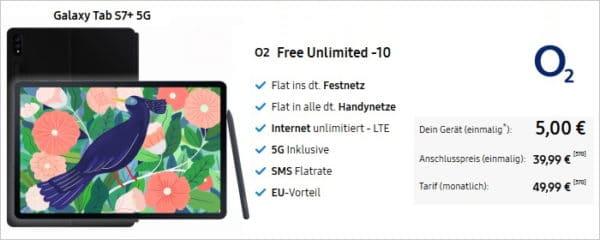 galaxy tab s7 plus 5g o2 free unlimited samsung online shop 21 04 01