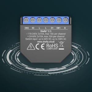 10x Shelly 2.5 WLAN Schaltaktor (für Lichtschalter) mit Messfunktion (auch 6-Packs)