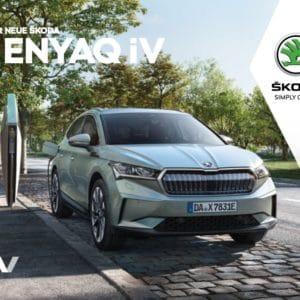 ⚡️Skoda Enyaq iV mit 55 kWh (100% elektrisch) für eff. 169 € mtl.