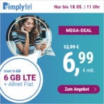 [Bis 11 Uhr] Flexible o2 LTE Allnet-Flats, z.B. 6GB für 6,99€ / 10GB für 9,99€ & mehr (Drillisch)