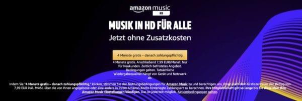 Amazon Music HD 4 Monate