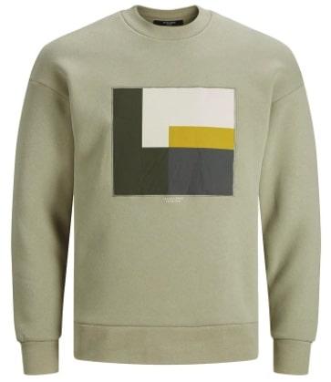 Jack & Jones Sweatshirt Jprblavisual in Graugrün