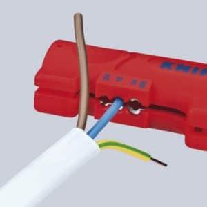 KNIPEX Abmantelungswerkzeug für Flach- und Rundkabel (125 mm) 16 64 125 SB