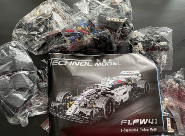 Klemmbaustein Formel 1 Wagen 1