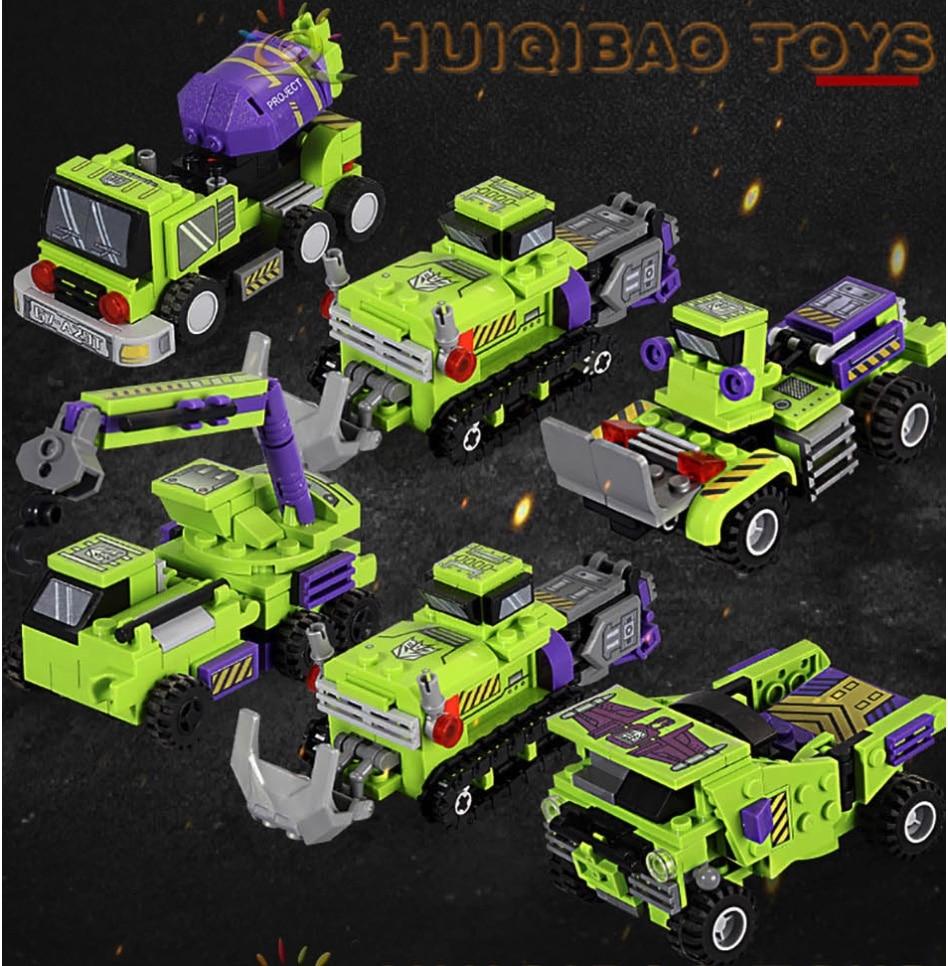 Klemmformers 6 in 1 Roboter aus Klemmbausteinen Autos