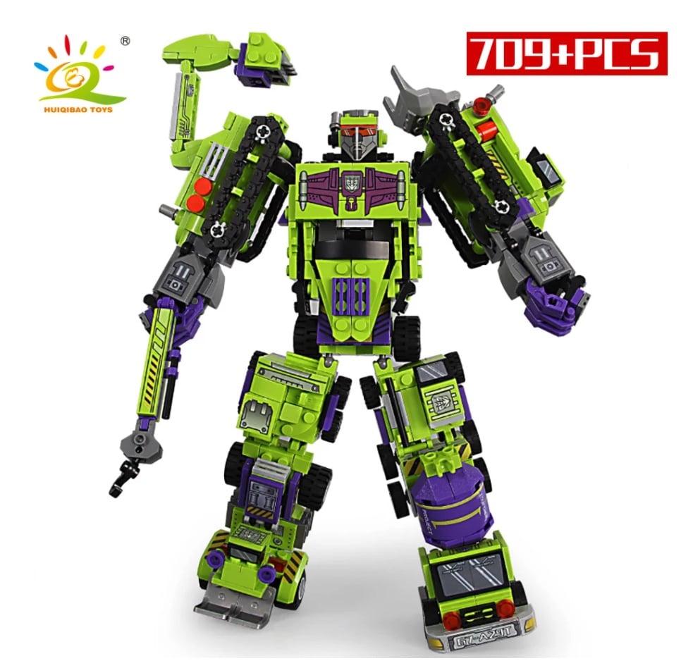 Klemmformers 6 in 1 Roboter aus Klemmbausteinen Post