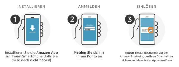Rabatt per Amazon App