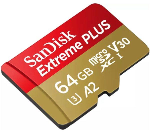 SANDISK Extreme Plus Micro-SDXC Speicherkarte 64 GB
