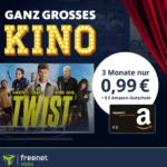 4€ Gewinn! 📺 3 Leihfilme für 0,99€ + 5€ Amazon.de Gutschein + freenet video