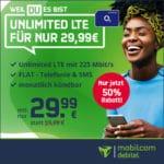 [Bis 18 Uhr!] o2 Unlimited 😲 mtl. kündbare Allnet-Flat + unendlich LTE mit 225 Mbit/s