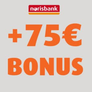 [TOP] 75€ Prämie für kostenloses norisbank Girokonto 💰🔥