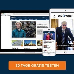 """1 Monat GRATIS """"WELTplus"""" Premium (exklusive Inhalte + Apps)"""