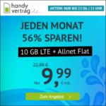 [Nur bis 11 Uhr] Flexible o2 LTE Allnet-Flats, z.B. 9GB für 8,99€ / 10GB für 9,99€ & mehr (Drillisch)