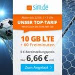 🎉 Flexible 10GB LTE Flat + 60 Min. für 6,66€ mtl.