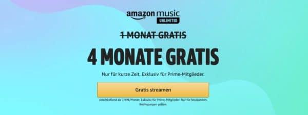 Amazon Music Unlimited 4 Monate