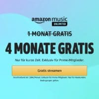 Amazon Music Unlimited 4 Monate gratis