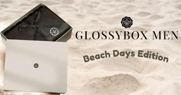 Beach Days Glossybox Men Box mit 10 Produkten für Herren