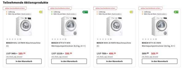 Bei Media Markt Bosch kaufen und adidas Geschenkkarten erhalten