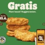 GRATIS: Plant Based Nuggets über Burger King App