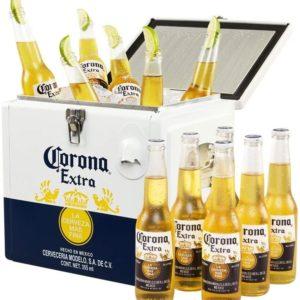 Corona Extra   Bier Coolbox   Kuehltruhe mit 12 Flaschen Lagerbier