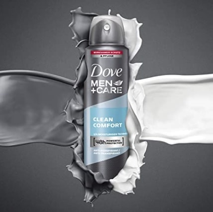 Dove Men+Care Deospray Clean Comfort Anti-Transpirant, 150 ml