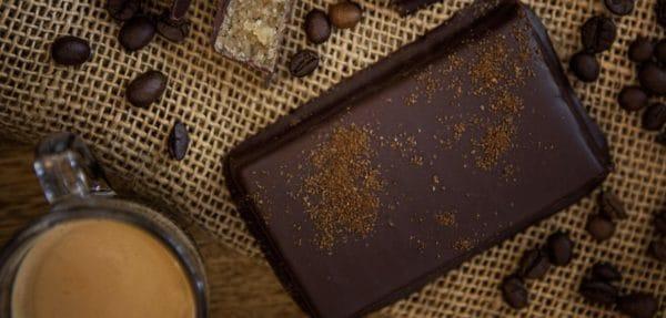 Espresso Marzipantafel mit Zartbitterschokolade