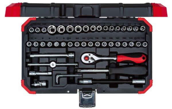 GEDORE red Steckschlüsselsatz, 46-teilig, Mit Umschaltknarre, Ratsche, Steckschlüssel und Bitsatz 1/4
