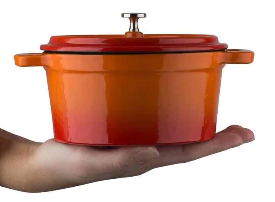 GSW Mini Serviertopf Orange Shadow inklusive Schieferplatte 1