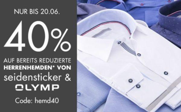 Galeria 40 Prozent Gutschein auf Olymp Seidensticker Sale-Hemden