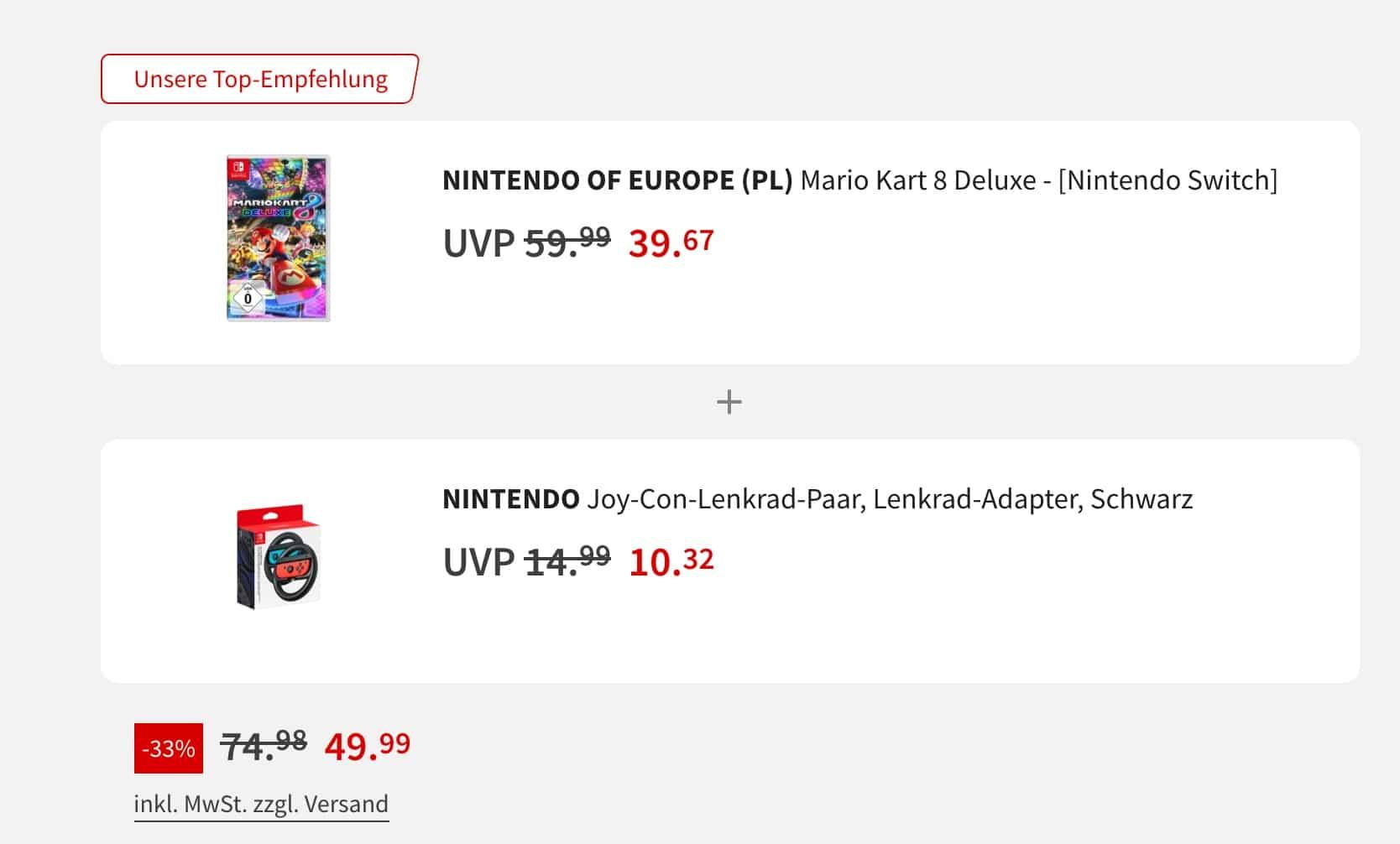 Mario Kart 8 Deluxe  Nintendo Joy Con Lenkradadapter