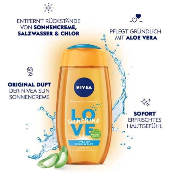 NIVEA Love Sunshine Pflegedusche