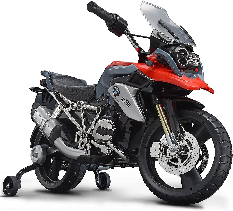 ROLLPLAY Elektro Motorrad Mit Stuetzraedern Fuer Kinder ab 3 Jahren