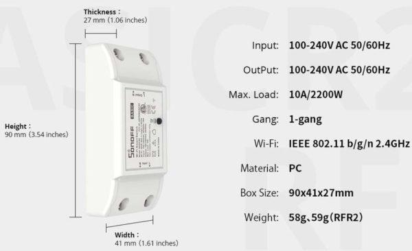 Sonoff Basic R2 WLAN Schalter 2