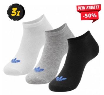 adidas Originals Trefoil Liner Sneakersocken 3 Paar AB3889