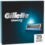 [Prime] Nur 1,29€/St. 🧔 25er Pack Gillette Mach3 Rasierklingen