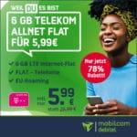 [Schnell!]📱🚀 Telekom Allnet mit 6GB LTE für 5,99€ mtl. - nur noch heute!