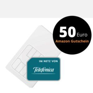 20GB LTE o2 Allnet für 16,99€ (mtl. kündbar) + 50€ Amazon-GS + kostenlose AMEX mit 35€ Startguthaben