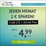 🎉 o2 3GB LTE + Allnet-Flat für 4,99€ (mtl. kündbar!) // 10GB für 9,99€